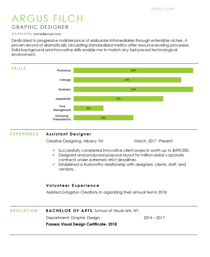 Soothing Green Resume Template-Resume templates word free download