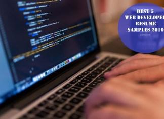Best 5 Web Developer Resume Samples 2019