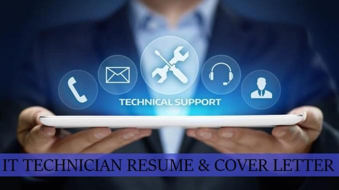 IT Technician Cover Letter & Resume Free Download