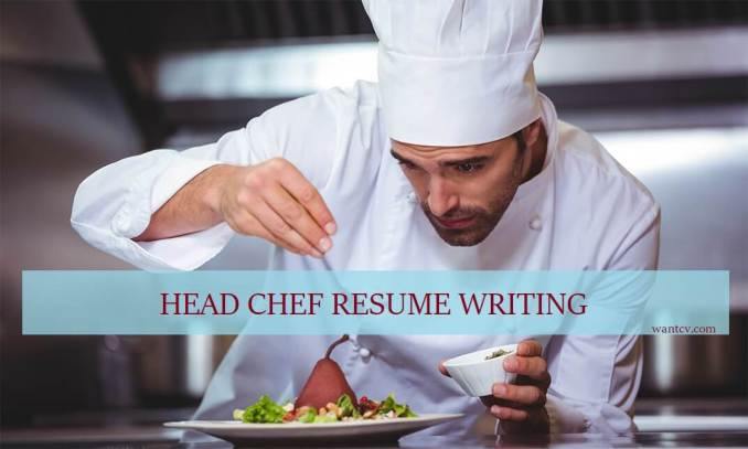 head chef resume writing