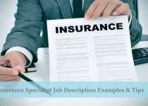 Insurance specialist job description resume