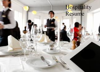 hospitality resume