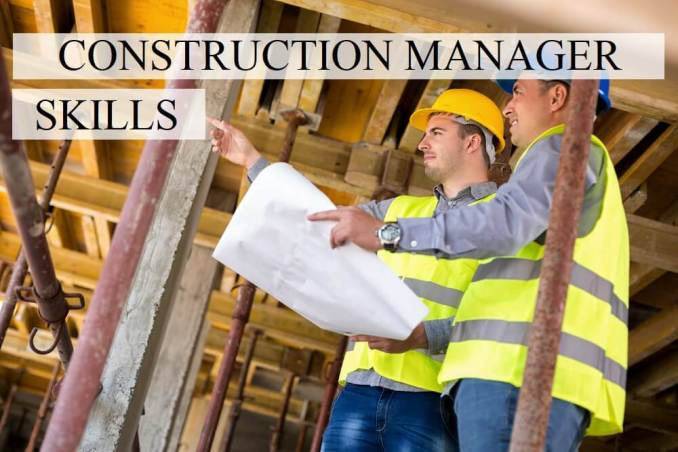Construction Manager Skills for Resume
