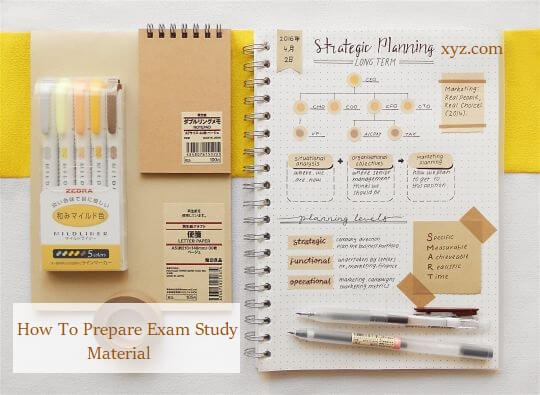 How To Prepare Your Study Material