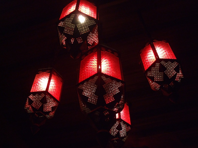 thai lanterns at night