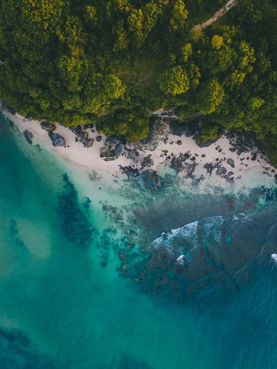 aerial landscape photo
