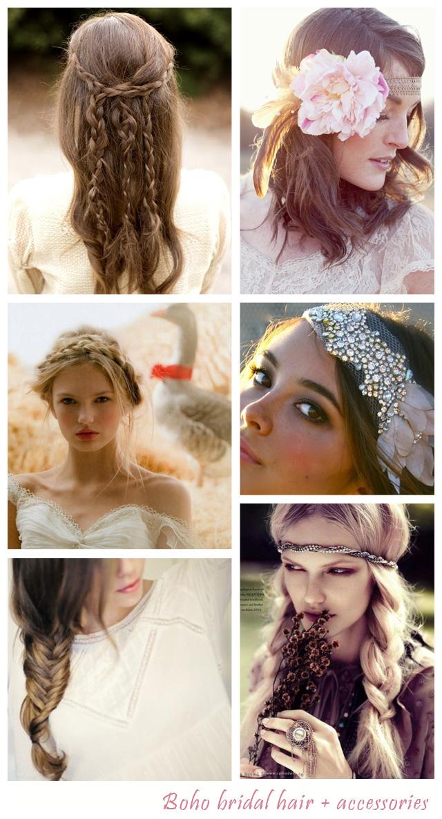 Bohemian Style Wedding Hair Pieces