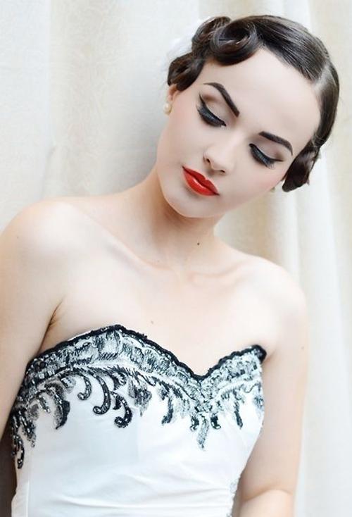Bridal Make Up Tutorial Modern Vintage Eyeliner Lips