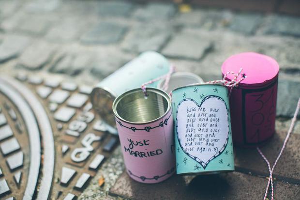 Fun & Creative DIY Tin Can Wedding Ideas