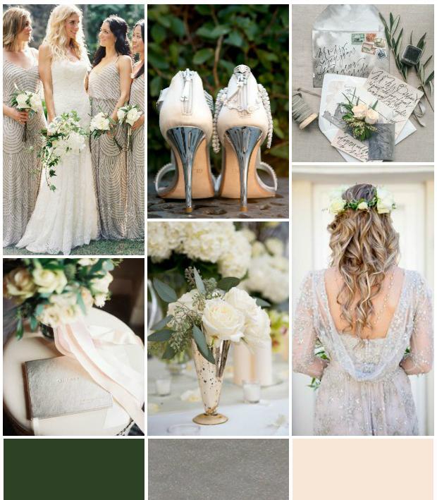 silver and green wedding | Invitationjdi.co