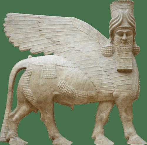 609px-Human_headed_winged_bull_facing