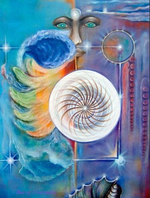 Schilderij van Berre, getiteld 'ZT'.
