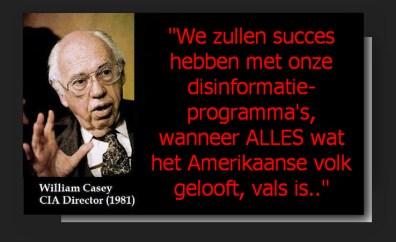CIA Casey disinformatie