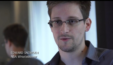 Edward Snowden, klokkenluider vanuit zijn werk bij de NSA..