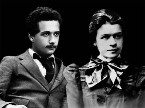 Albert en zijn eerste vrouw Mileva, die hij had leren kennen op de universiteit.