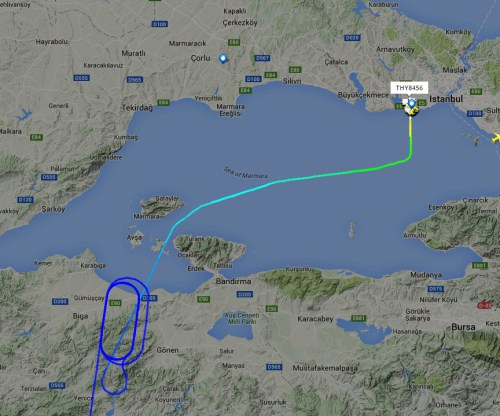 Erdogans flight waiting for clearnce to land