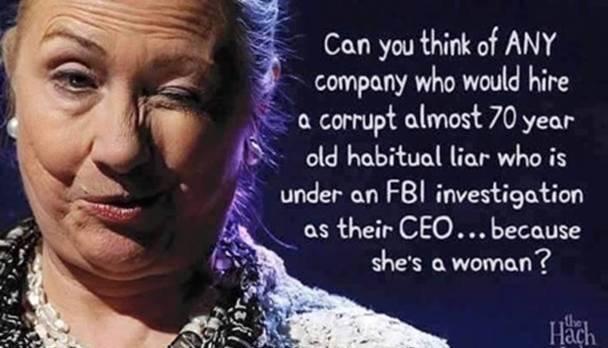 Hillary a woman