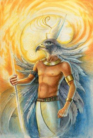 Horus, de zonnegod, werd zo'n 2000 jaar voor Christus geboren; ook zijn levensverhaal is vergelijkbaar met dat van Jezus.