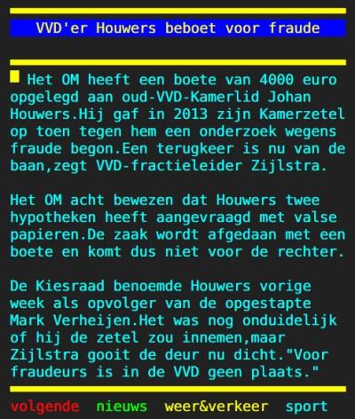 De opvolger van een sjoemelende VVD-er blijkt inmiddels ook weer een sjoemelende VVD-er te zijn. Dat kán toch geen toeval meer zijn...?