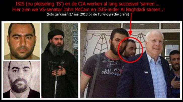 Het was John McCain die als postillion d'amour het pad baande voor de bekrachtiging van ISIS in Syrië. Financiële middelen zouden er komen, na zijn gesprekken met.. ISIS-leider Al Baghdadi.