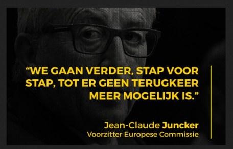 Juncker stap voor stap verder