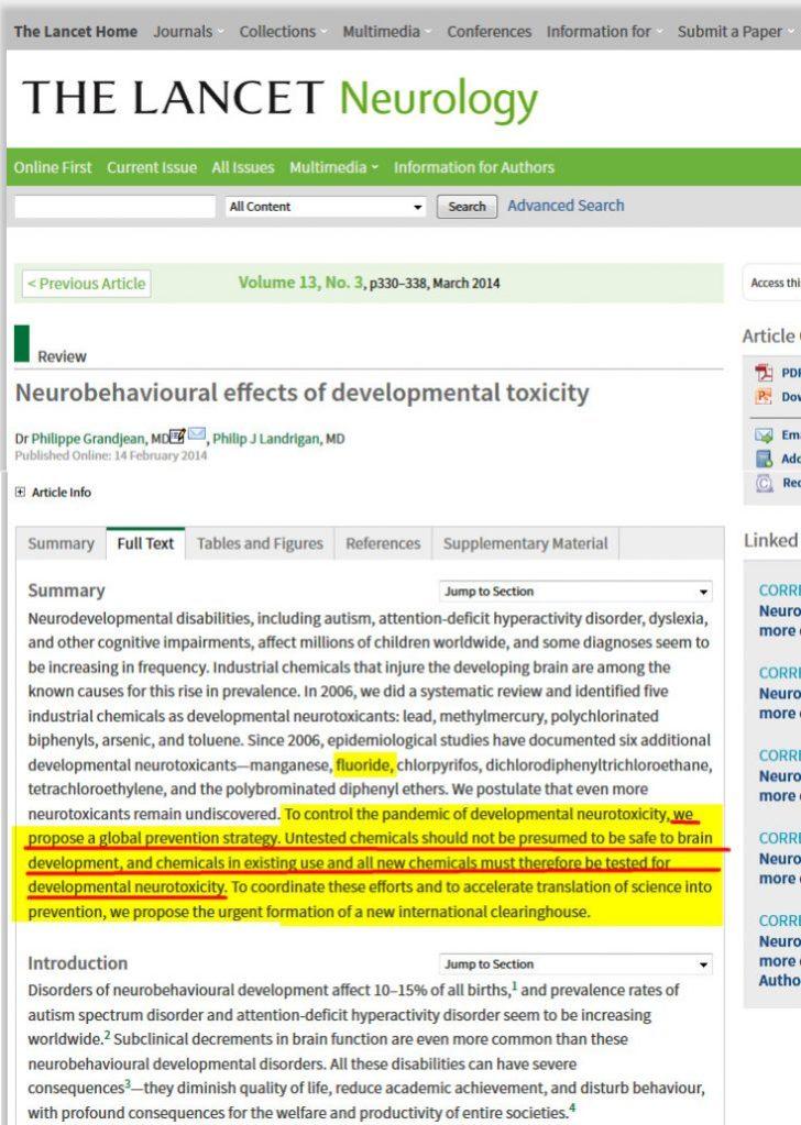 Lancet Neurology fluor