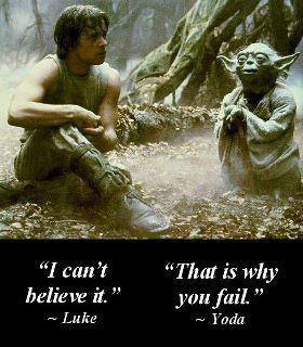 Luke fail yoda thats why