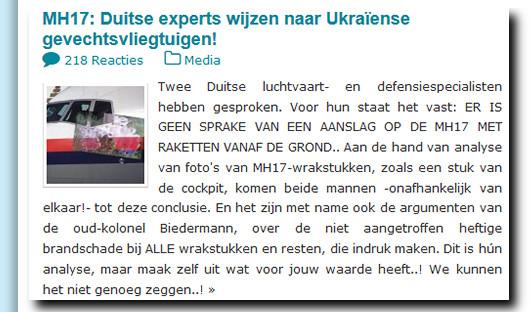 MH17 duitse experts