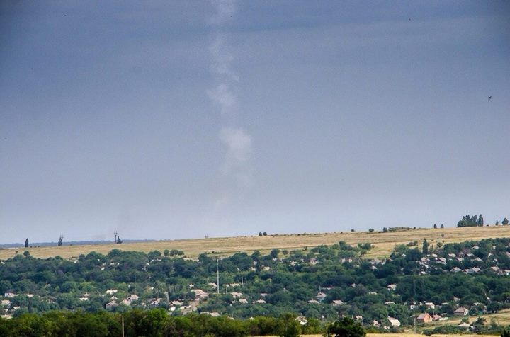 MH17 foto buk blauwe lucht