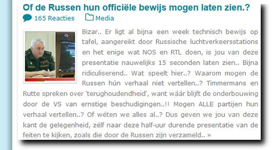 MH17 russen officieel bewijs