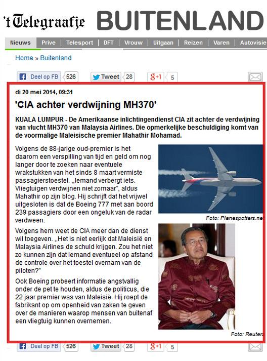 Dat je je als land niet populair maakt bij de VS, het land, dat feitelijk de scepter zwaait in Oekraïne, is duidelijk.. Een bericht uit mai 2014, kort nadat de MH370 was verdwenen.. Niet bepaald 'diplomatieke taal'.. Wel taal die aan duidelijkheid weinig te wensen over laat..!