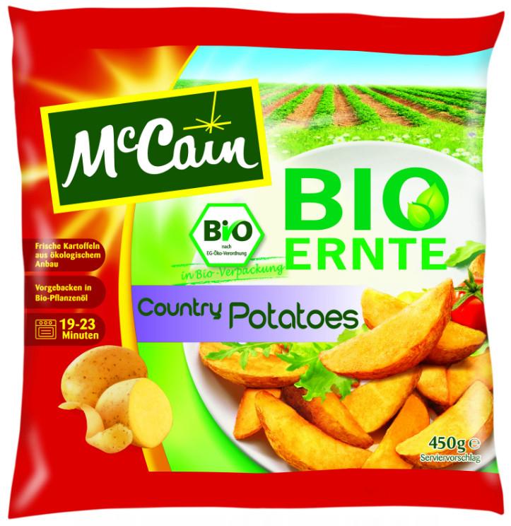 Een goed voorbeeld van een 'duurzaam product'.. Aardappelschijfjes op basis van biologische aardappels en verpakt in een biodegradable/composteerbare plastic verpakking.