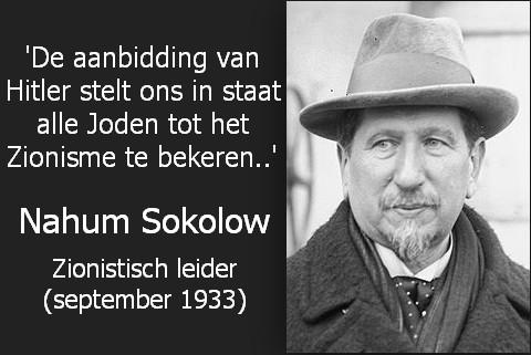 Nahum Sokolow zionisme hitler