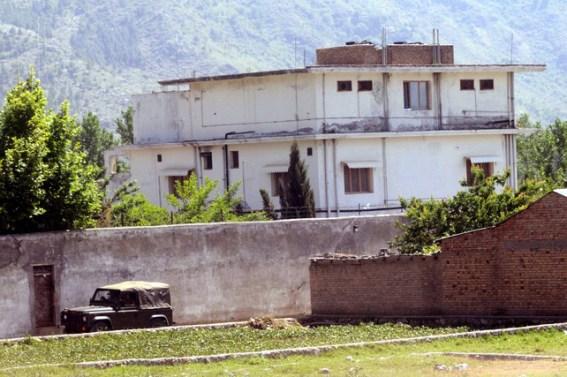 De compound waar OBL zich schuilgehouden zou hebben, tot de fatale dag, dat de Amerikanen hem doodden.
