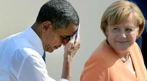 Obama Merkel sweaty explanations