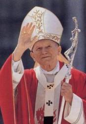 """Een van de meest symphatieke leiders van de Katholieke Kerk. De vorige paus, Johannes Paulus. Van hem zijn de 'spontane' woorden: """"Bedankt voor die bloeme!"""""""