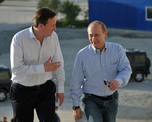 Poetin en Cameron tijdens een door Rusland georganiseerde G8-ontmoeting