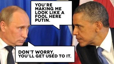 Putin Obama fool