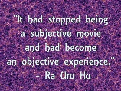 Ra Uru Hu objective experience