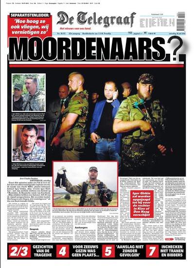 Telegraaf vraagteken moordenaars