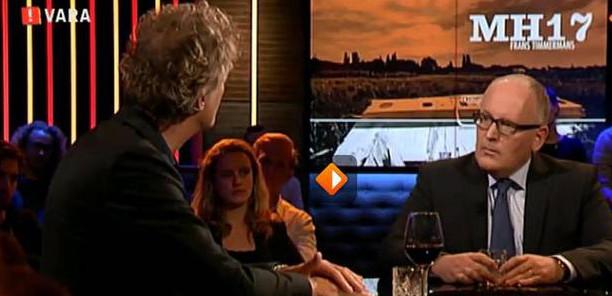 Minister van BuZa, Frans Timmermans, bij Jeroen Pauw aan tafel, 8 oktober jl.