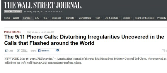 WSJ irregularities phone calls 9-11
