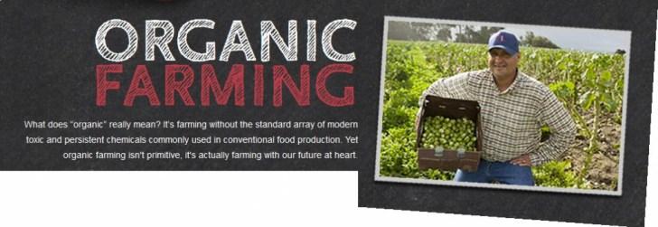 Whole foods over organic farming