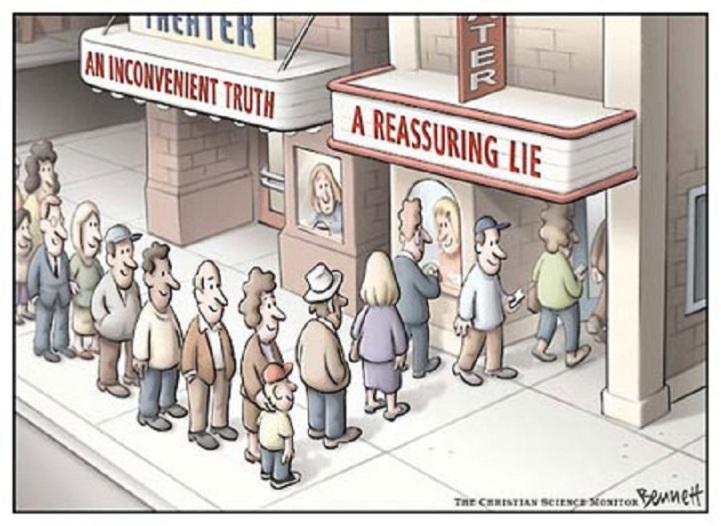 a reasuring lie