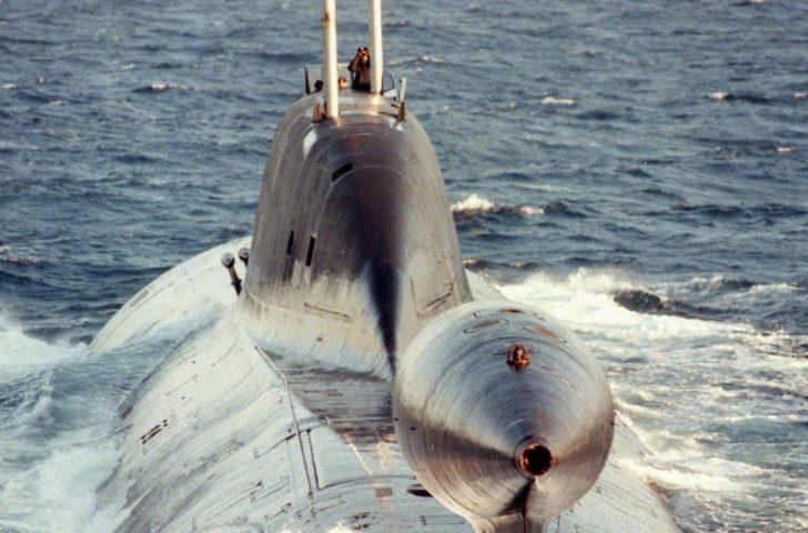 Een van de Russische onderzeeërs van de Akula-klasse.