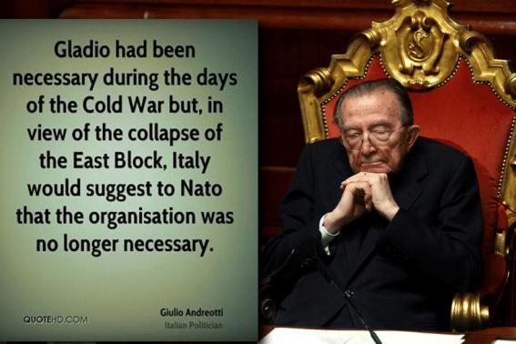 Het was premier Andreotti die met deze woorden in het Italiaanse parlement de sneeuwbal aan het rollen bracht , die een lawine in heel Europa veroorzaakte..