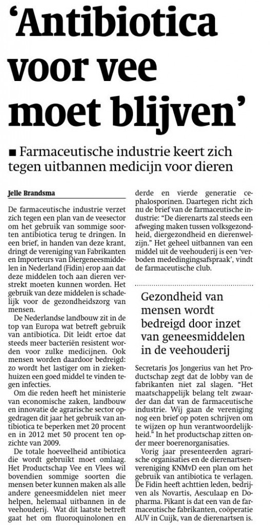 antibiotica vee industrie big pharma