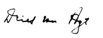 beste mark Van Agt brief handtekening Van Agt