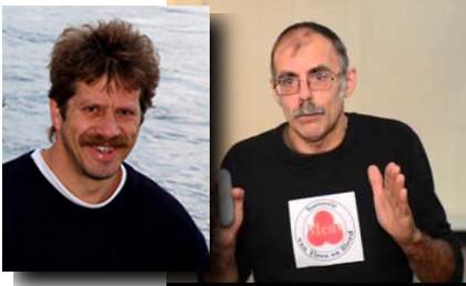 De beide auteurs van het baanbrekende boek over de Soevereine Mens: Luca van Dinther (r) en Robbert Boerman