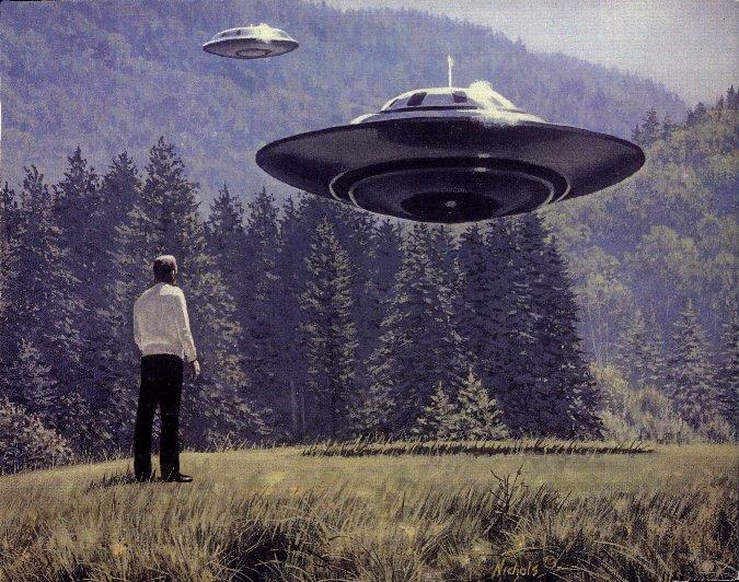 Het was de Zwitser Billy Maier, die in de jaren 1960 de -in buitenaards leven geïnteresseerde- wereld op zijn kop zetten, met zijn foto's en verslagen van ontmoetingen met buitenaardsen. (Zoals hier getekend)